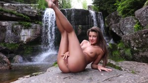 Hot Russian Masturbating Outdoors And Peeing