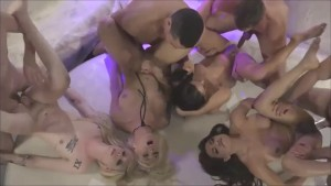 Gangbang, Aubrey Kate, Chanel Santini, Annabelle Lane & Jessy Dubai, Orgy