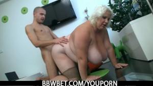 Huge boobs blonde plumper