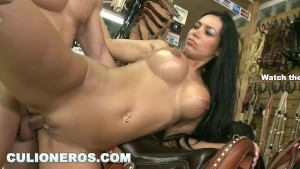CULIONEROS - Latina MILF Natasha Has Beautiful Big Tits