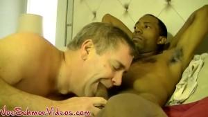 Hung ebony hunk Silk gets his big black cock swallowed