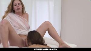 Mormongirlz - Red head lesbian seduces a straight girl