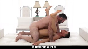 Mormonboyz - Man cums on young stud's hole