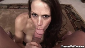 McKenzie Lee fucks her step son and gets facial