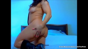 EroticMuscleVideos - BrandiMae's Smokin Hot in Black Boots And Nothing Else