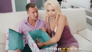 Blonde Bride To Be Gets A BIG gift - Brazzers
