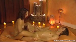 Twisting Oily Handjob Massage