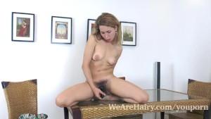 Nara Abel masturbates on her kitchen table