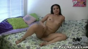 Sexy Brunette Pussy Playing and Fingering Fun