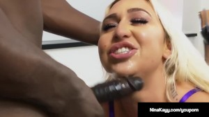 Busty Star Nina Kayy Fucked In Her Ass By A Huge Black Cock!