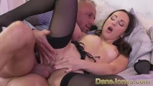 Dane Jones Sloppy blowjob and rough sex for petite Russian brunette