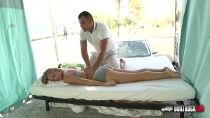 Lucette Nice gets an invitation for free massage in Barcelona