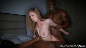 BLACKEDRAW Big titty white girl gets double teamed by BBCs