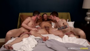NextDoorStudios Morning DP Group Fuck With 3 BIG DICKS