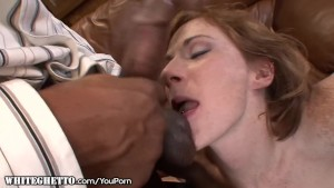 Dirty Slutty Redhead Begs for that BBC Creampie in her Asshole