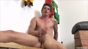 Foreskin Play Alexander Dorch Jerking Off
