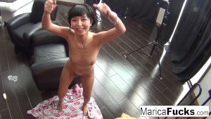 Hottie Marica Hase records herself masturbating