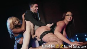 Brazzers - Busty strippers share lucky fan