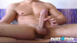 Flirt4Free Model Markley - Faceless Muscle Stud Has One Enormous Cock