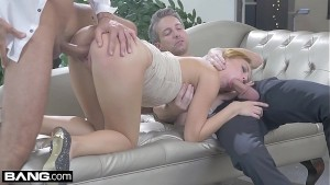 Kira takes two Dicks in her holes in this glam hardcore fuck