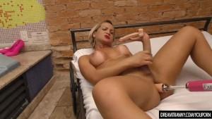 Tranny Pamela Lenvisk Rides a Dildo and a Fucking Machine in a Whirlpool Bath