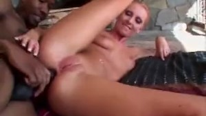 NWORSHIP Horny Tracy doing wet blowjob and anal fuck with Big Black Dick