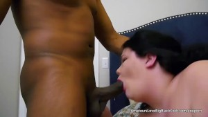 Fat white gal takes on two blacks