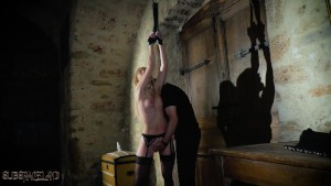 Candee Licious bondage slave in a hairy fetish extreme fuck