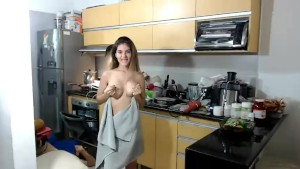 Camgirl teases plumber - Anyone know her name?