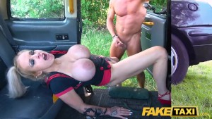 Fake Taxi Busty dirty talking blonde squirting Milf fucked in cab