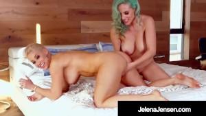 Wild Haired Lovers Jelena Jensen & Ryan Keely Eat Pussy!