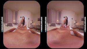 Super horny VR nympho girlfriend Ania Kinski's deep throat blowjob in POV