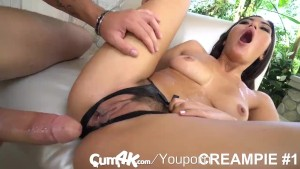 CUM4K HAIRY pussy FILLED UP with MULTIPLE LOADS of CUM