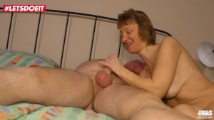 LETSDOEIT - Cheating German Wife Gets a Big Load From Her Lover