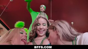 BFFS - Hard Teen Pussy Slamming On St. Patty's Day