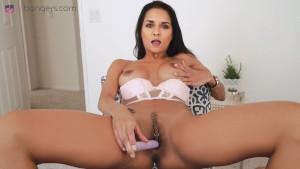 VR BANGERS-AbbyLeeBrazil Masturbating in VR