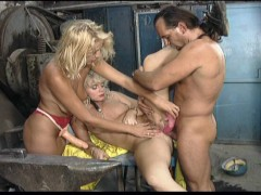 Classic threesome scene with...