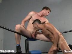 Gay athletes lick and...