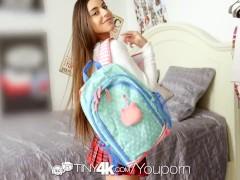 Tiny4k Brunette student Arielle...