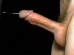 No Hands Complete Cumshot - Taped Sideways