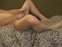 Smooth jerk off with nice feet/leg action