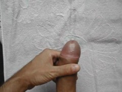 Cliffhangers shaved cock on towel again