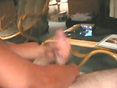 College girlfriend gives me a handjob with cumshot
