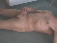 Jerking off a huge load (9 spurts)
