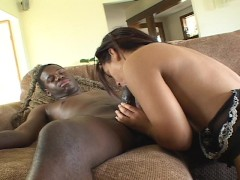 Latina gets pounded on the couch