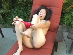 Leandra Lee plays outside