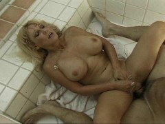 Mature cum slut relaxes her young hubby