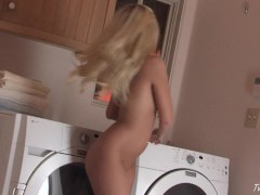 Jana Jordan Masturbates On The Washing Machine