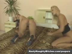 Strapon lesbians action part2of2