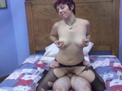 girl rips pantyhose and gets banged